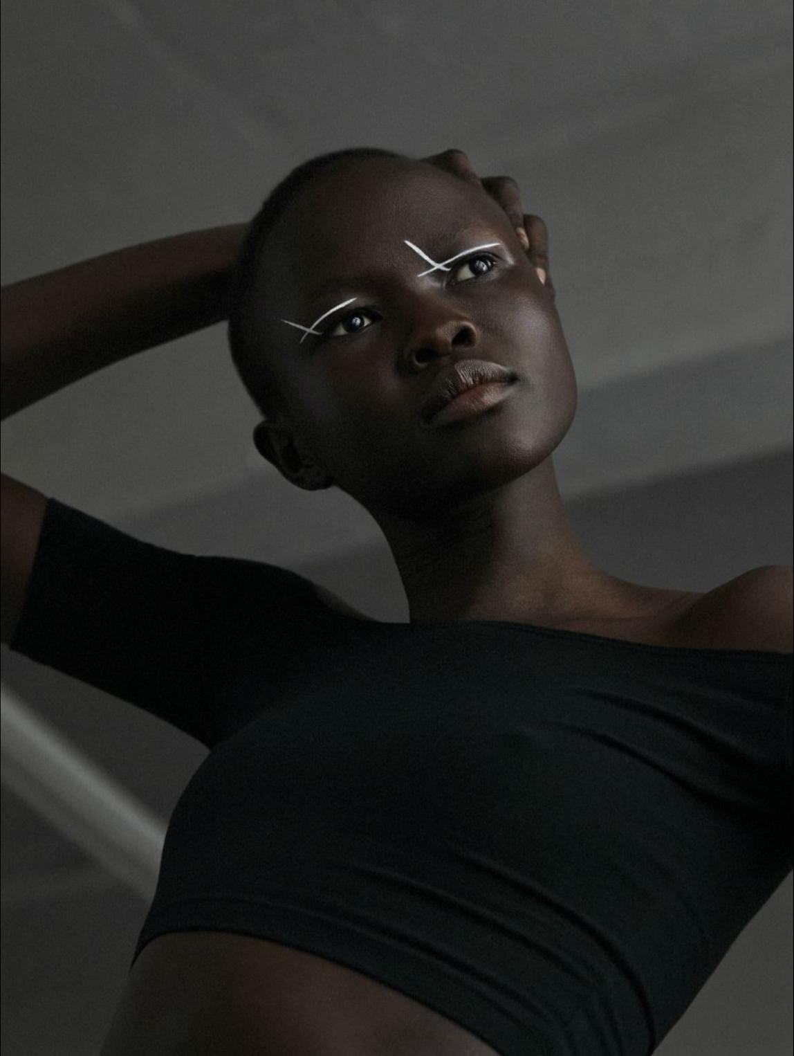 Angok Mayen - Modelo do Sul do Sudão. Atualmente em Nova Iorque.