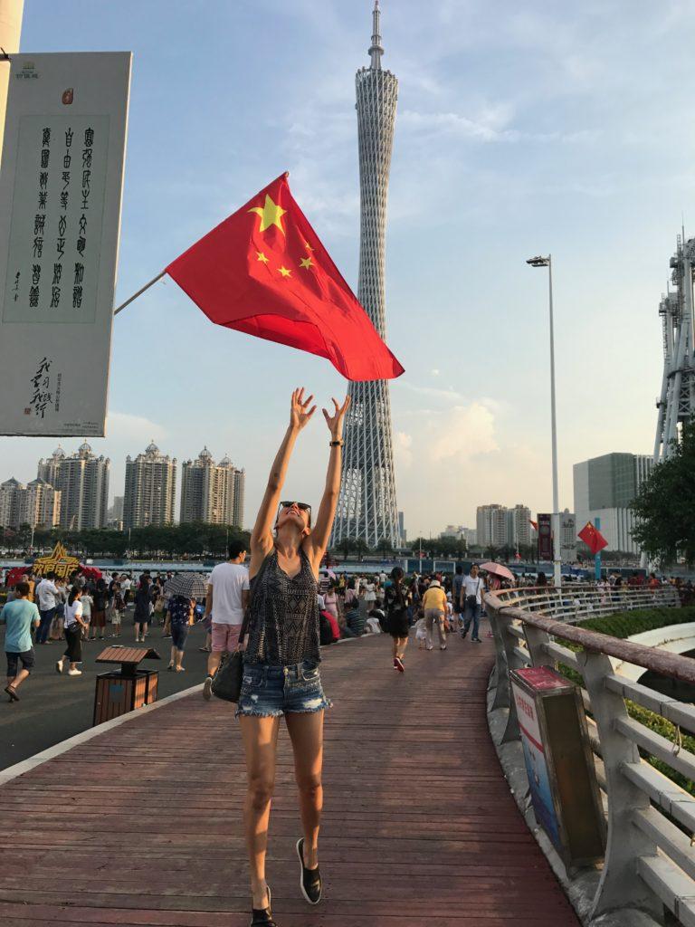 modelo Sandra Passos na China