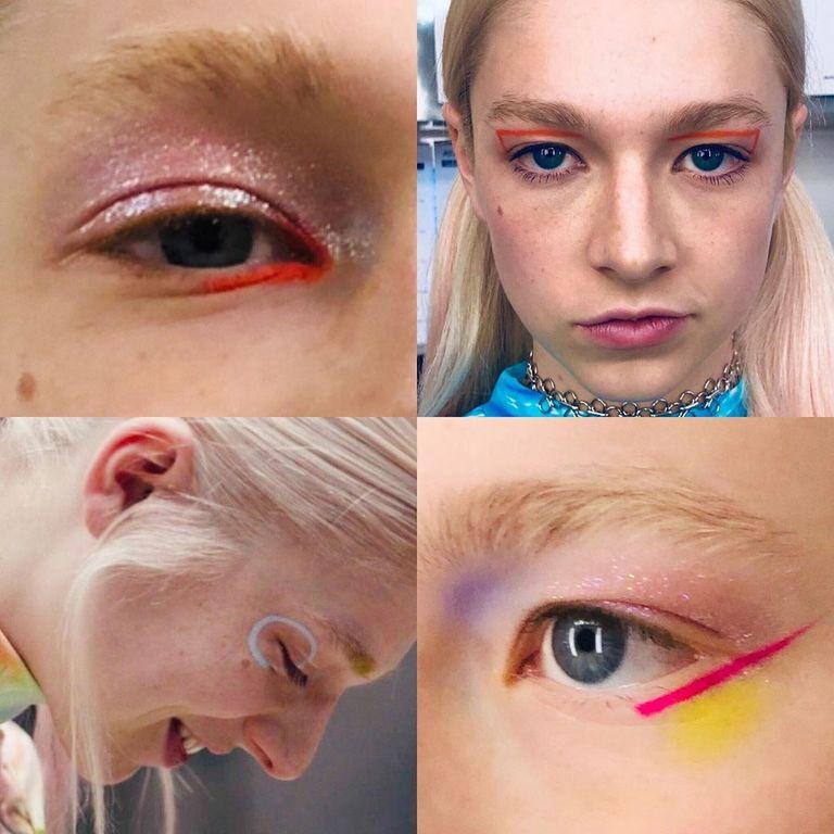 A personagem Jules de Euphoria usa maquiagens artísticas para se expressar