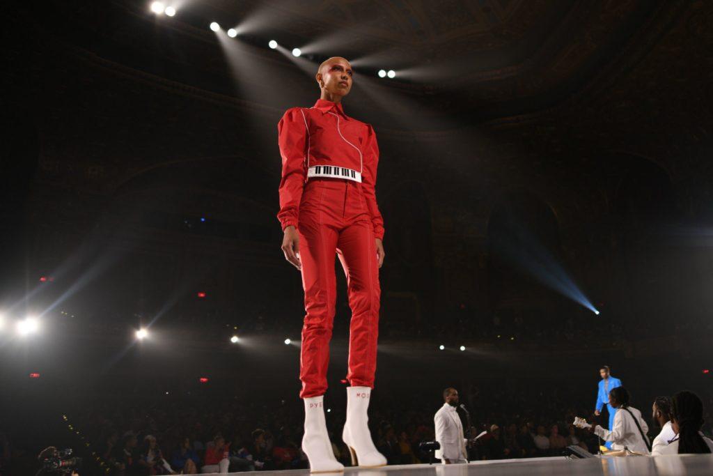 Pyer Moss fez um show durante a New York Fashion Week