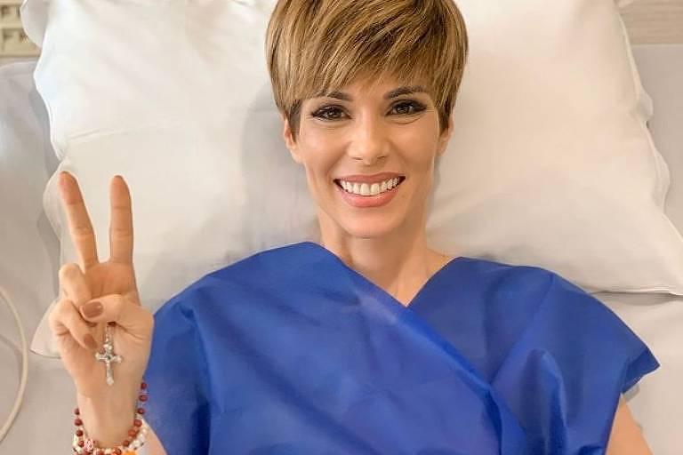 A apresentadora Ana Furtado entrou para a lista das mulheres que venceram o câncer de mama