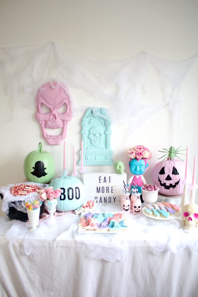 Decorações assustadoras em cores pastel são grandes tendências deste ano