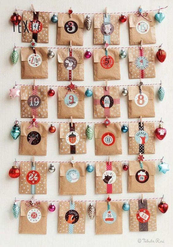 Esta decoração também é uma contagem regressiva até o natal