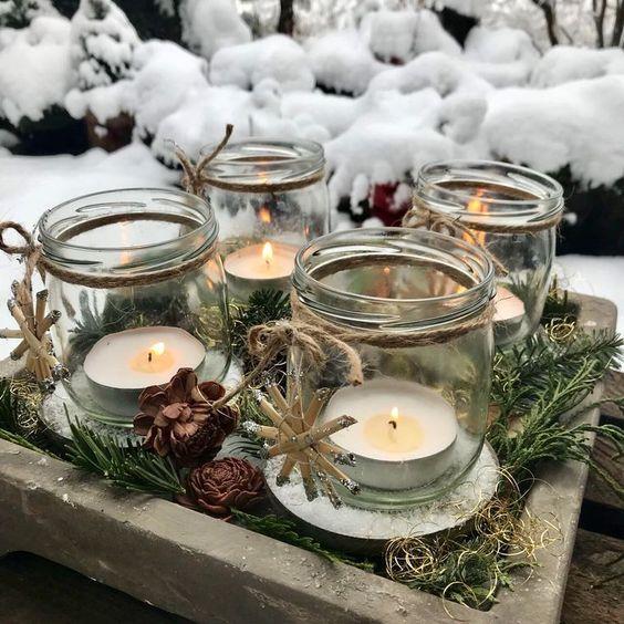 Velas ideias são ótimas para criar o clima de Natal